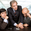 Group of workers on a meeting at the office — Stock Photo