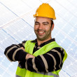 Young happy worker portrait with arms crossed — Stock Photo
