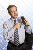 Pensive mature business man looking to the future — Stock Photo