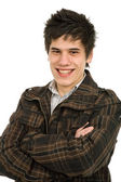 Studio picture of a happy young man — Stock Photo
