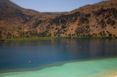 Famous kournas lake in the greek island of crete — Foto Stock
