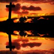 Cross silhouette — Stock Photo