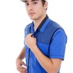 Young casual man posing — Stock Photo