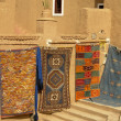 African carpet market detail in a street of morocco — Stock Photo #23679169