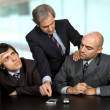 Stock Photo: Group of workers on a meeting at the office