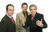Trzech ludzi biznesu — Zdjęcie stockowe