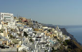 View of Thira at the greek island of Santorini — Stock Photo