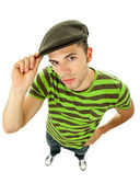 Young casual man full body in a white background — Stock Photo