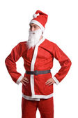Thin santa claus isolated on white background — Stock Photo