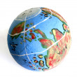 Small globe isolated on the white backgroud — Stock Photo