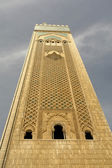 Old colored mosque tower detail in Morocco — Stock Photo