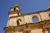 Ancient church tower of malta cathedral detail — 图库照片