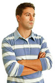 Young casual man thinking — Stock Photo