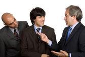 孤立在白色背景上的三个业务人 — 图库照片