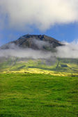 Azores big pico mountain at pico island — Stock Photo