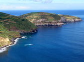 Azores coastal view at sao miguel island — Stock Photo