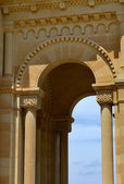 Ancient church entrance of malta cathedral — ストック写真