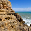 Rocky coast of algarve, the south of portugal — Stock Photo
