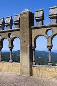 Detail der pena palast, im dorf von sintra, lissabon, portugal — Stockfoto