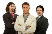 Three business men isolated on white background — Stock Photo
