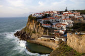 View of Azenhas do Mar, located on the cliffs near Sintra, Portugal. — Stock Photo