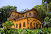 Old palace in Sintra inside Pena Gardens — Stock Photo