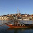 Typical boat at oporto city on the north of portugal — Stock Photo