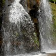 Big waterfall in azores island of s. miguel — Stock Photo