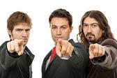 孤立在白色背景上的三个商务男士 — 图库照片