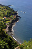 Azores village coast — Stock Photo