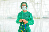 Young male doctor at the hospital — Stock Photo