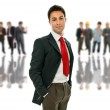 Business man in front of a group of — Stock Photo #23754481