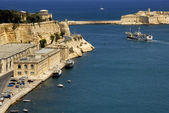 Valetta harbor view, — Stock Photo