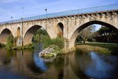 Ancient roman bridge of Ponte da Barca — Stock Photo