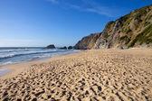 美丽的海滩的 adraga — 图库照片