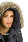 Studio picture of a young man dressed for winter — Stockfoto