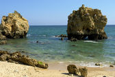 Small beach at algarve — Stock Photo