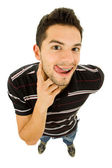 Young casual silly man — Stock Photo