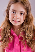 Young happy girl smiling, close up portrait — Stock Photo