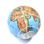 Closeup of a globe — Stock Photo