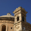 Ancient church tower of malta cathedral detail — Stock Photo