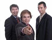 Three business man — Stock Photo
