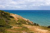 Rocky coast of algarve — Stock Photo