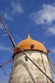азорские острова древних ветряная мельница — Стоковое фото