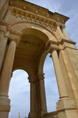 Ancient church tower of malta cathedral detail — Stockfoto
