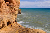 Rocky coast of algarve — Stock Photo