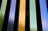 Abstract colored and textured window glass detail — Stock Photo