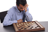 Young man playing a game — Stock Photo