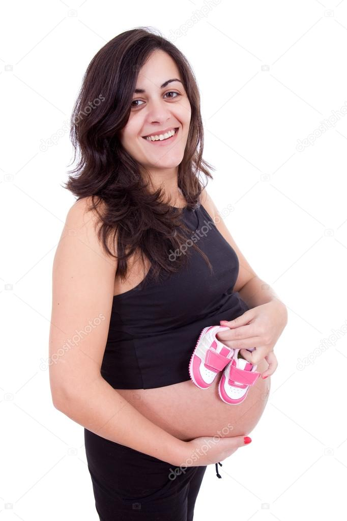 Young beautiful pregnant woman — Stock Photo © zittto ...