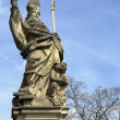 A statue at the Charles Bridge — Stock Photo